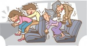 シートベルト非着用時