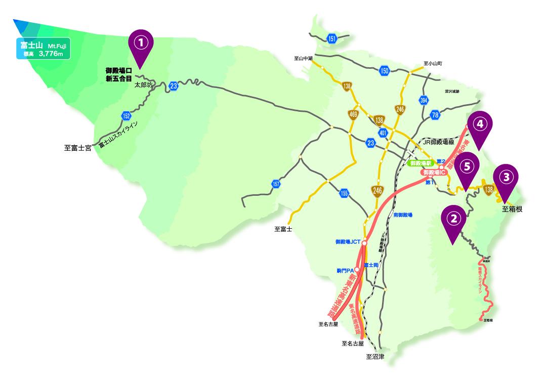 富士山眺望遺産map