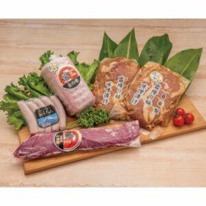 希少!御殿場純粋「金華豚」ヒレ肉と山崎精肉店おススメのハムセットの画像イメージ