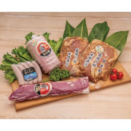 希少!御殿場純粋「金華豚」ヒレ肉と山崎精肉店おススメのハムセットの返納品画像イメージ