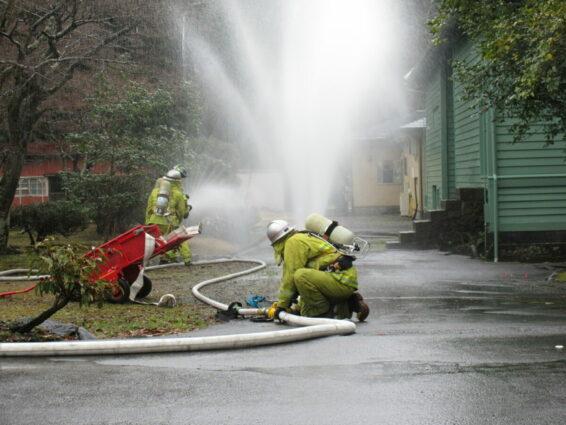 復生記念館旧事務所棟 消防訓練