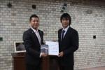 手塚プロからサイン色紙とDVDの贈呈
