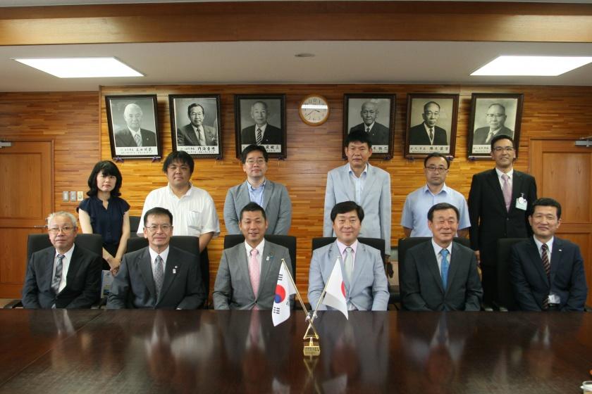 韓国論山市代表団訪問