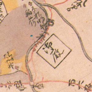 御殿の記載がある西田中村絵図