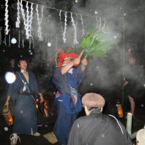 県指定無形民俗文化財沼田の湯立神楽