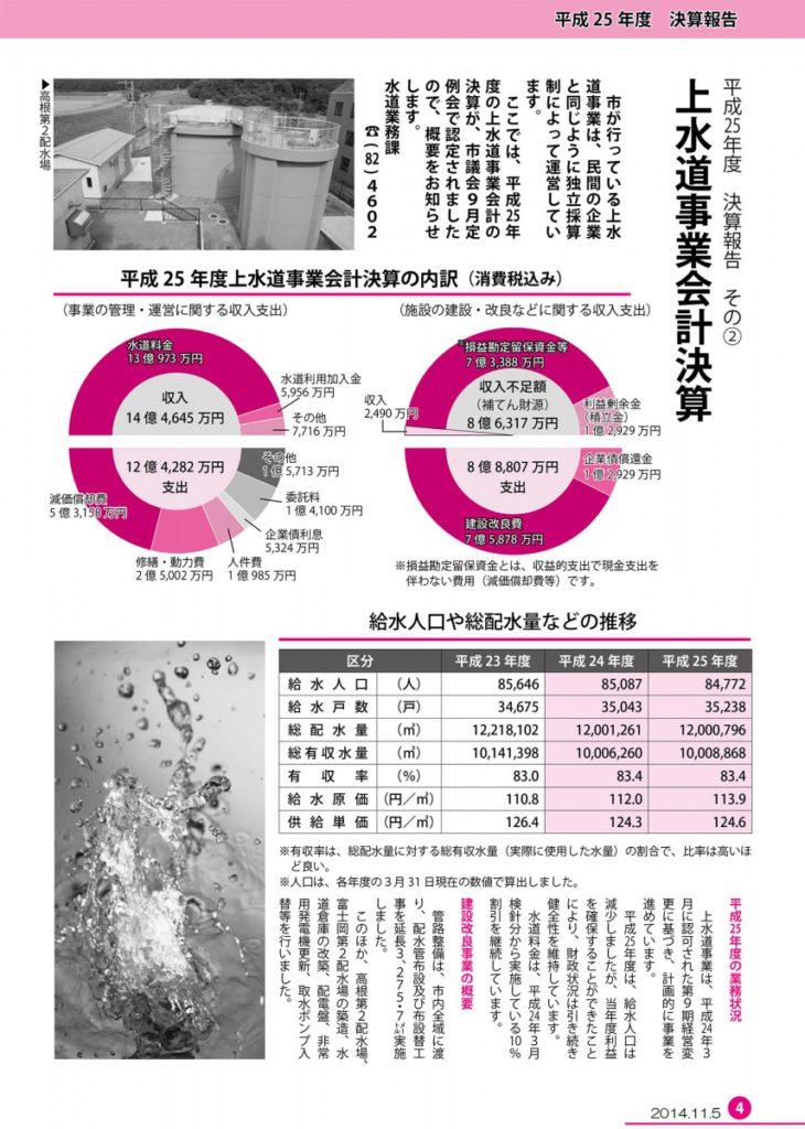 平成25年度上水道事業会計決算の概要【PDF:1.3MB】